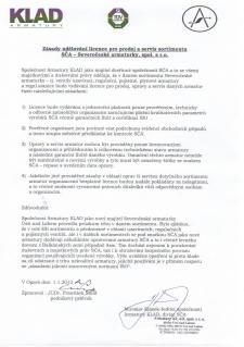 Zásady udělování licence pro prodej a servis sortimentu SČA - Severočeské armaturky, spol s r.o.