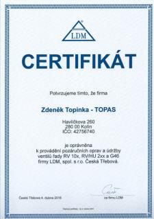 Certifikát LDM